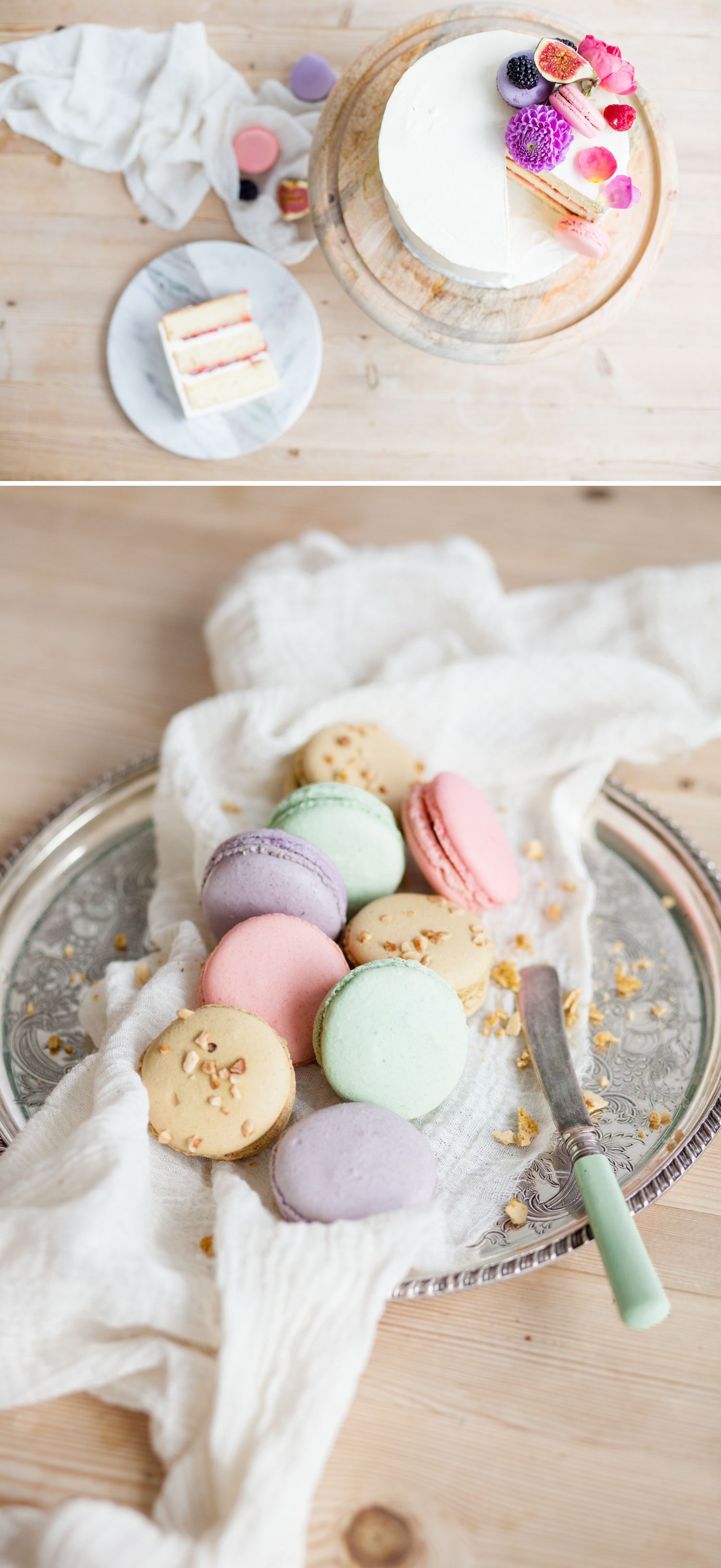 Personal branding shoot for Milk Street Kitchen - pastel macarons