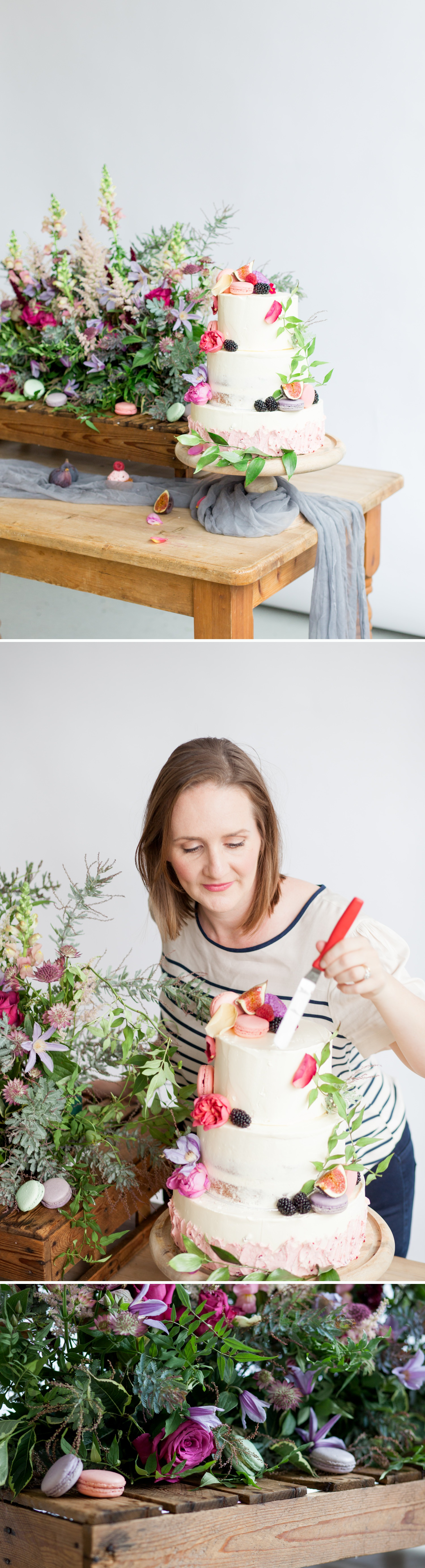 Personal branding shoot for Milk Street Kitchen - abundant flowers, figs and cakes