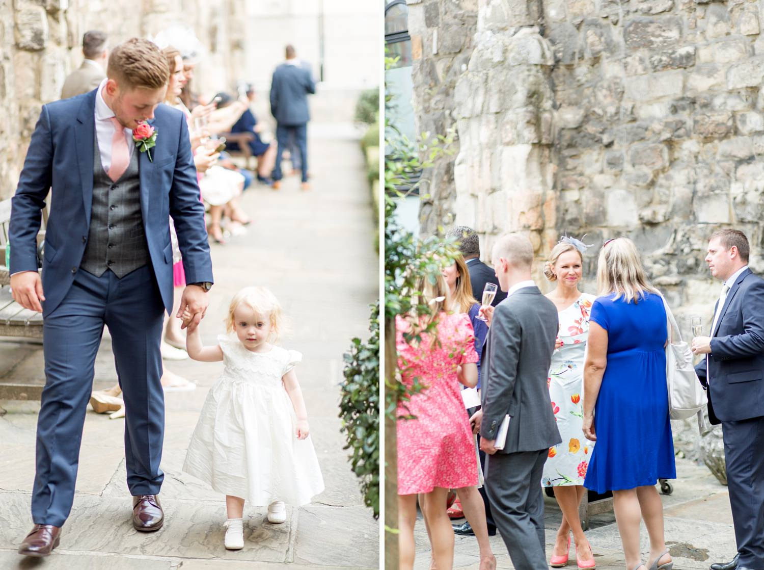 Charlotte & Adam's St. Paul's Cathedral wedding - guests at a wedding
