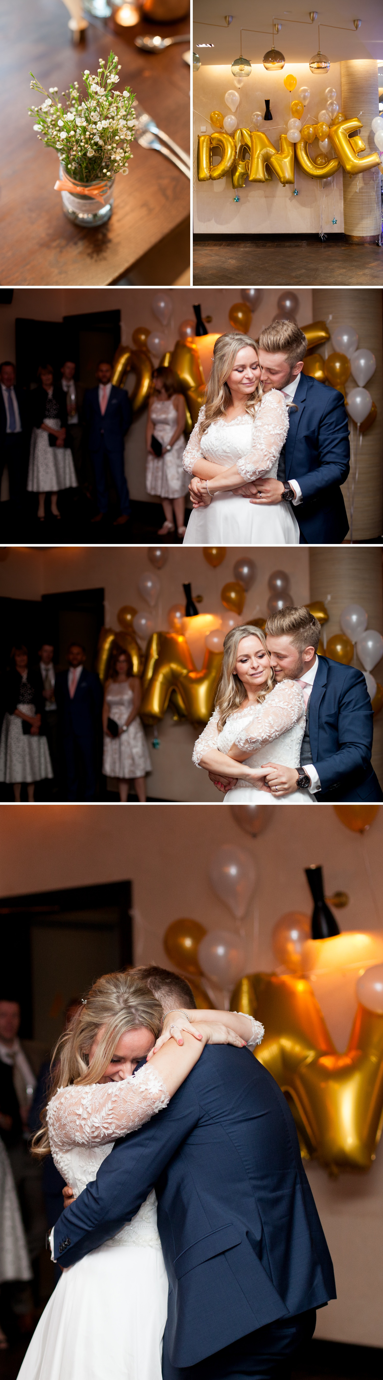 Charlotte & Adam's St. Paul's Cathedral wedding - a first dance at a wedding