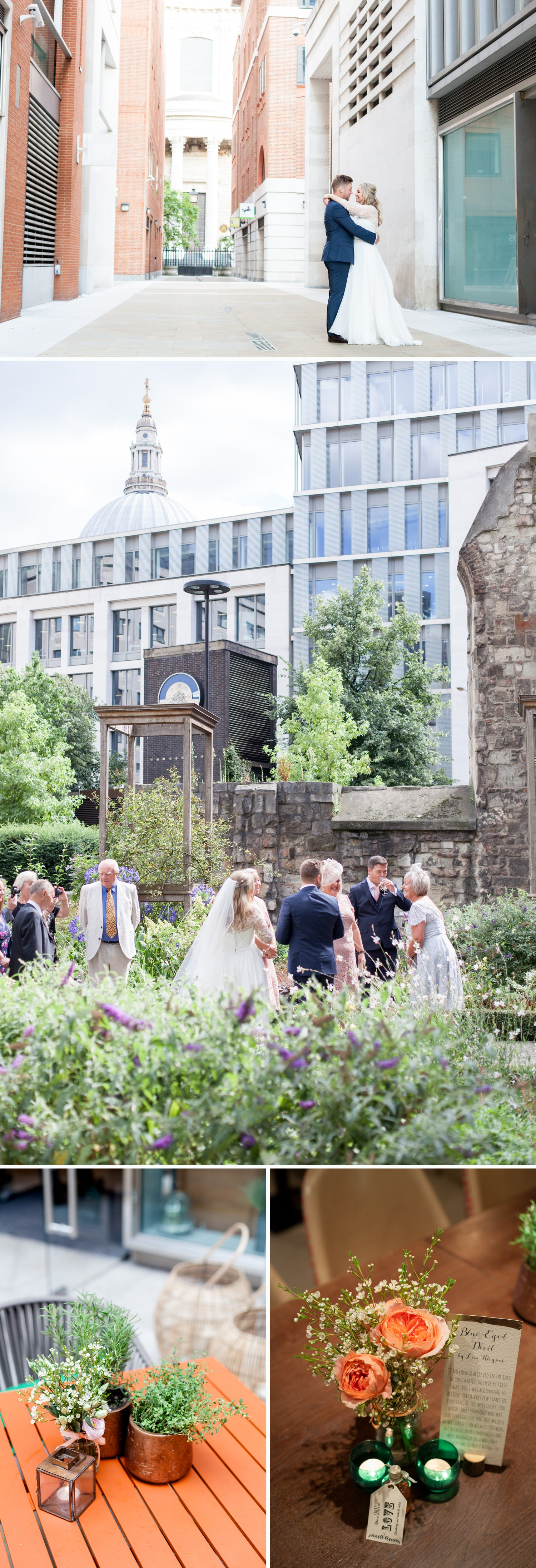 Charlotte & Adam's St. Paul's Cathedral wedding - a city wedding reception