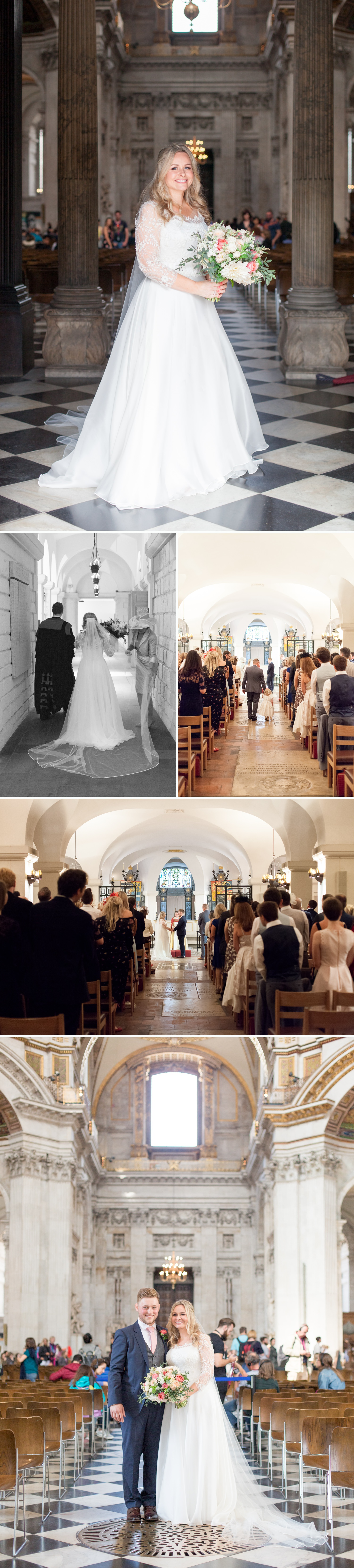 Charlotte & Adam's St. Paul's Cathedral wedding - a couple marry in the CBE chapel