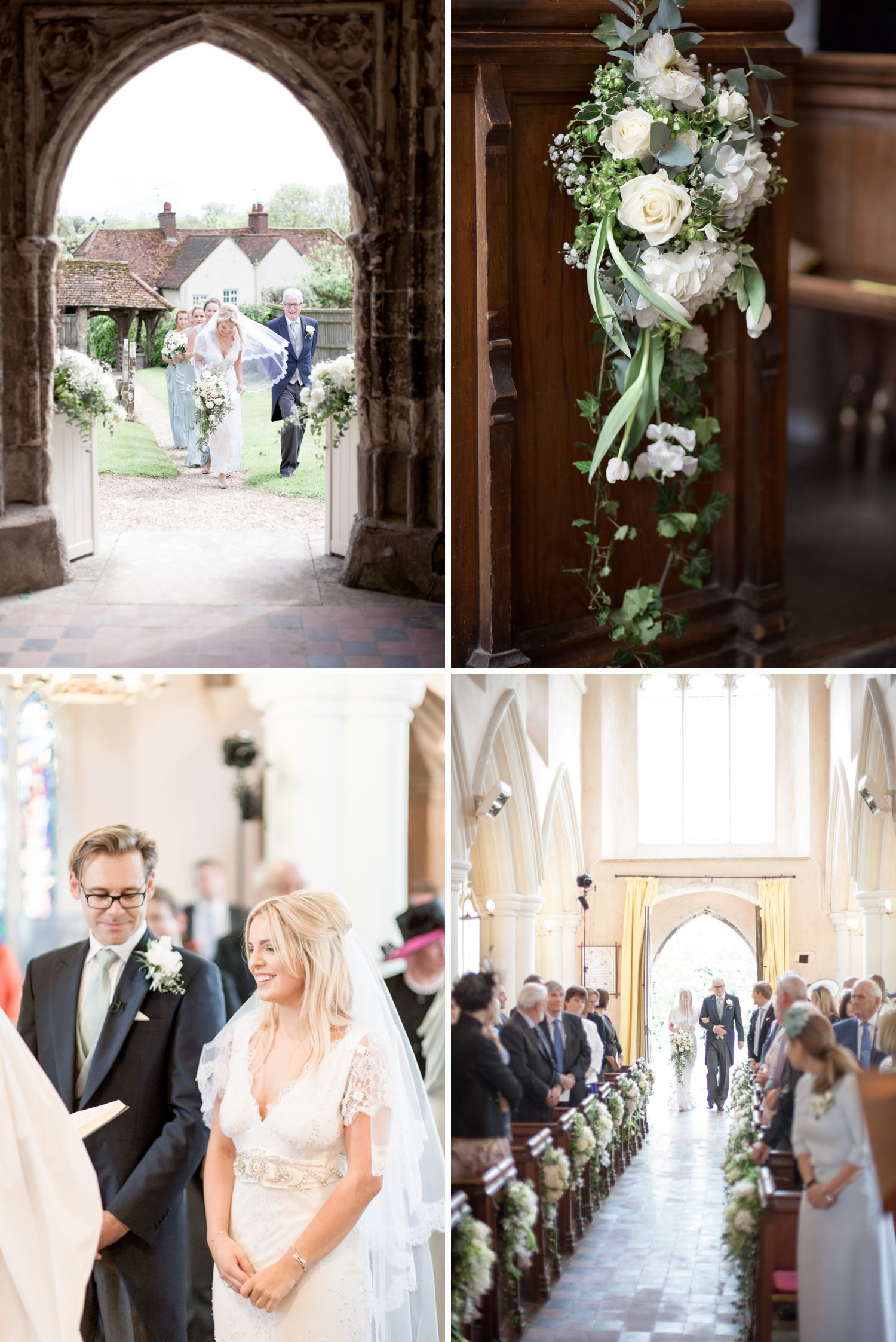 Emily & Jonathan's Cambridgeshire wedding - couple marry in an ancient church