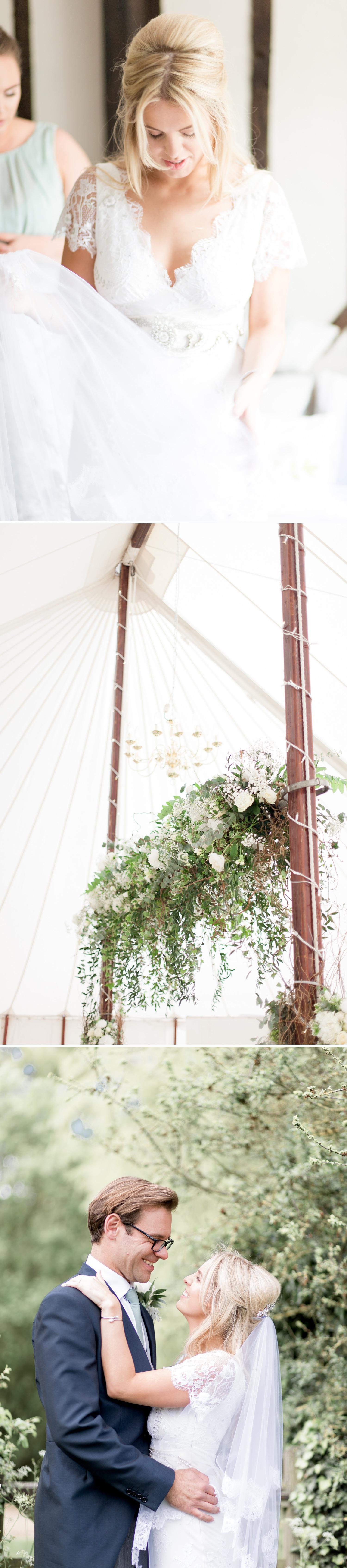 Emily & Jonathan's Cambridgeshire wedding - bride in a beautiful Temperley dress