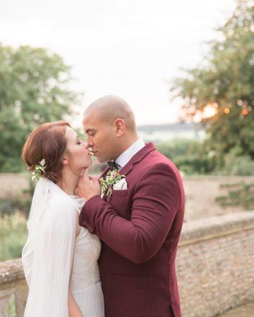 romantic wedding photography- a bride and groom on an italian terrace