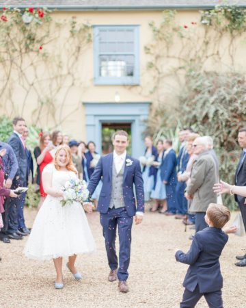 romantic wedding photography- a confetti shot