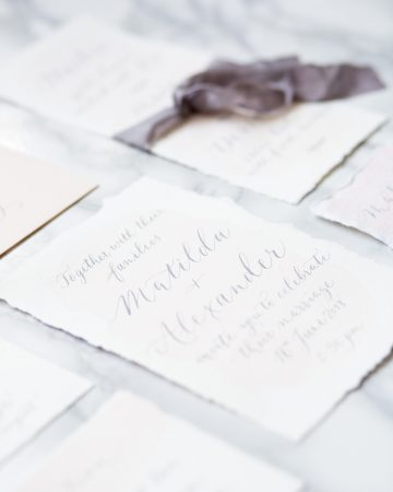 romantic wedding photography- a calligraphy stationery suite
