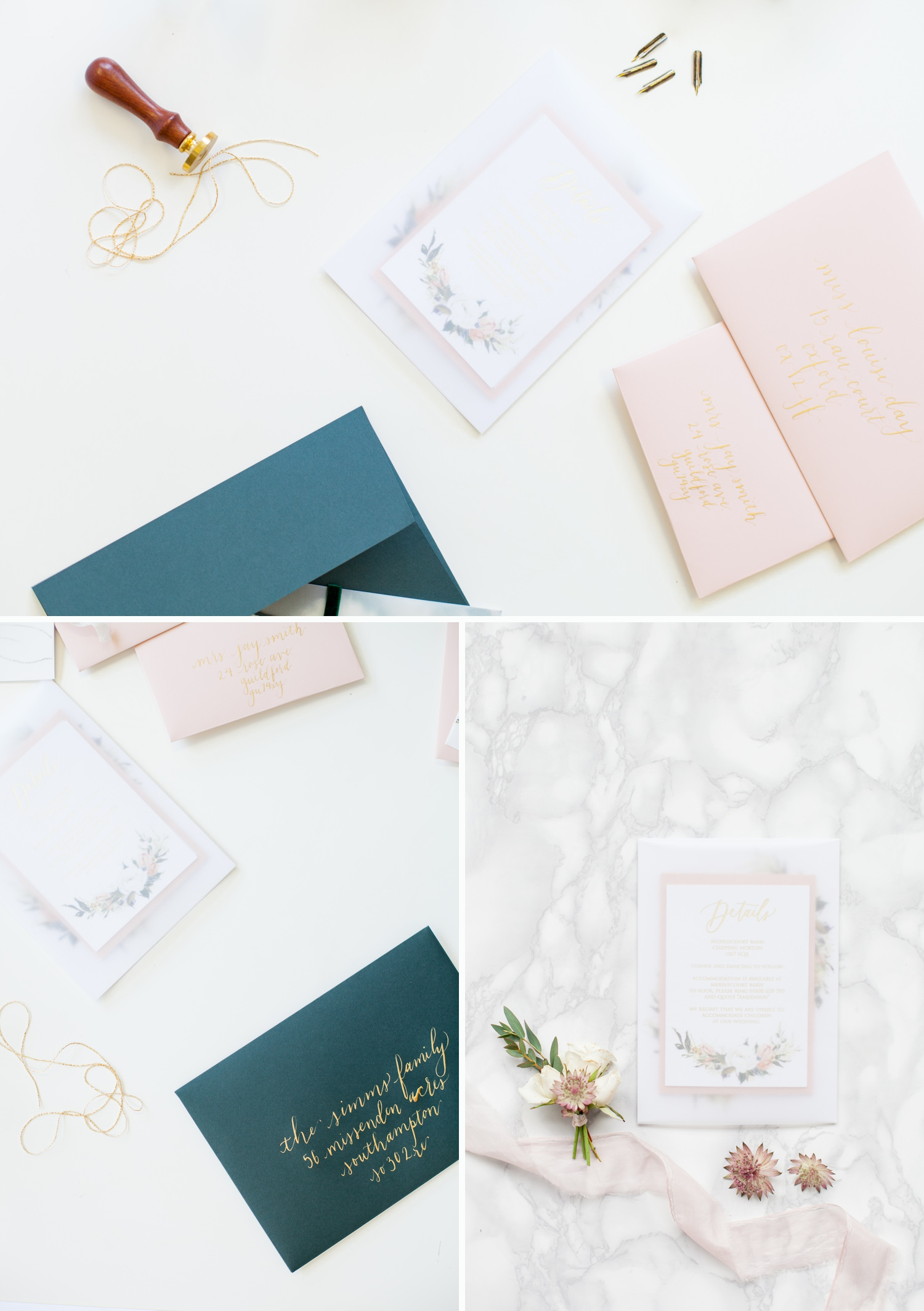 Personal Branding - green and pink stationery suites
