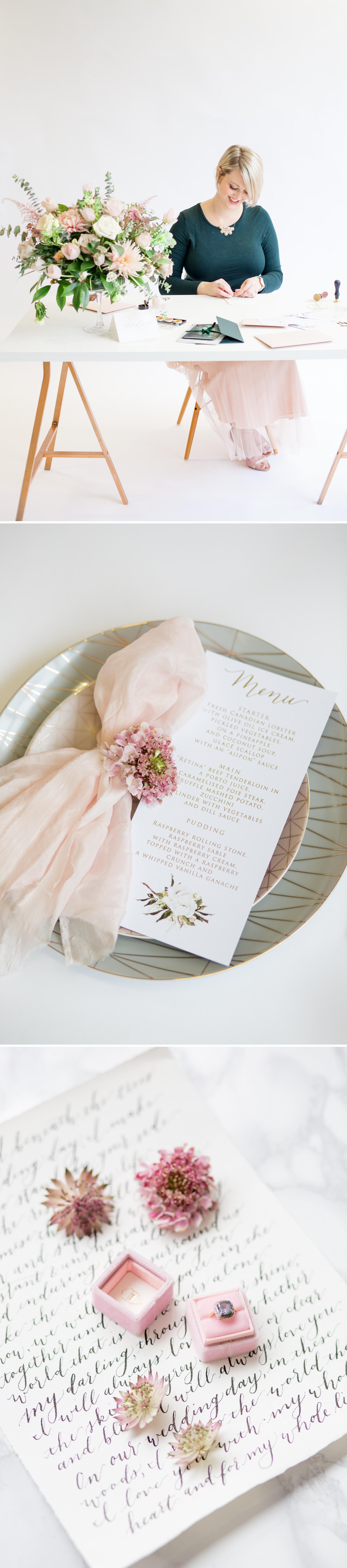 Personal Branding photoshoot. beautiful wedding calligraphy