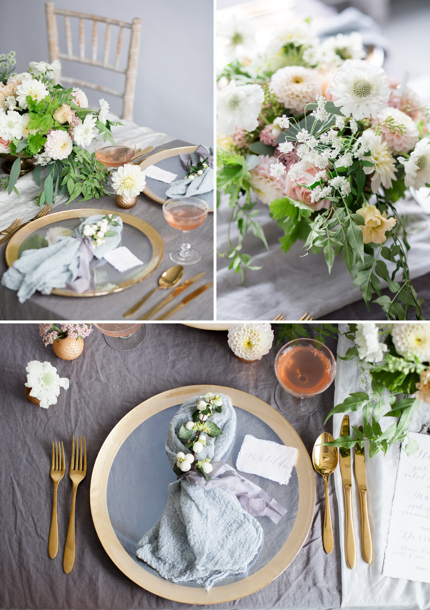 personal branding photoshoot for Stone & Co. wedding breakfast table