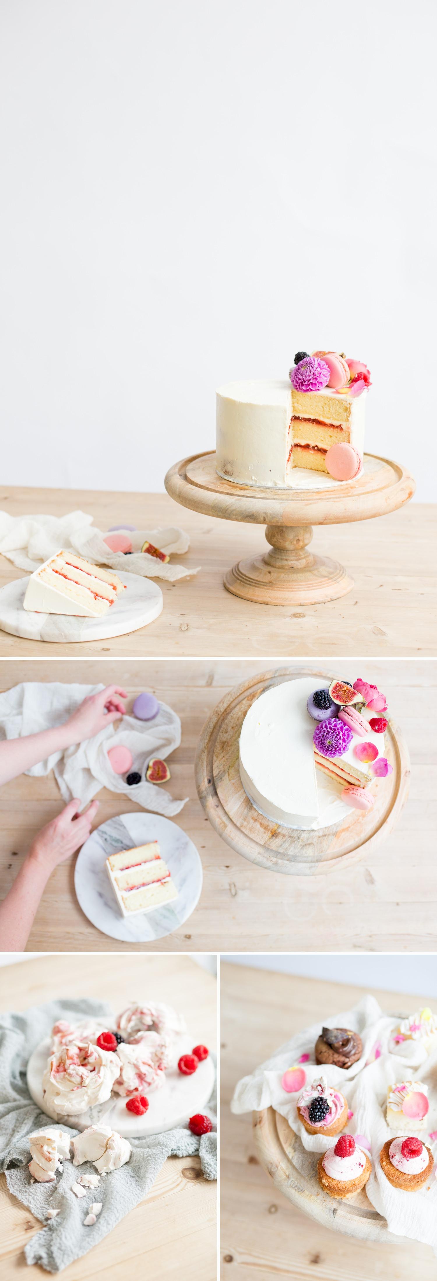 Personal branding shoot for Milk Street Kitchen - white cakes