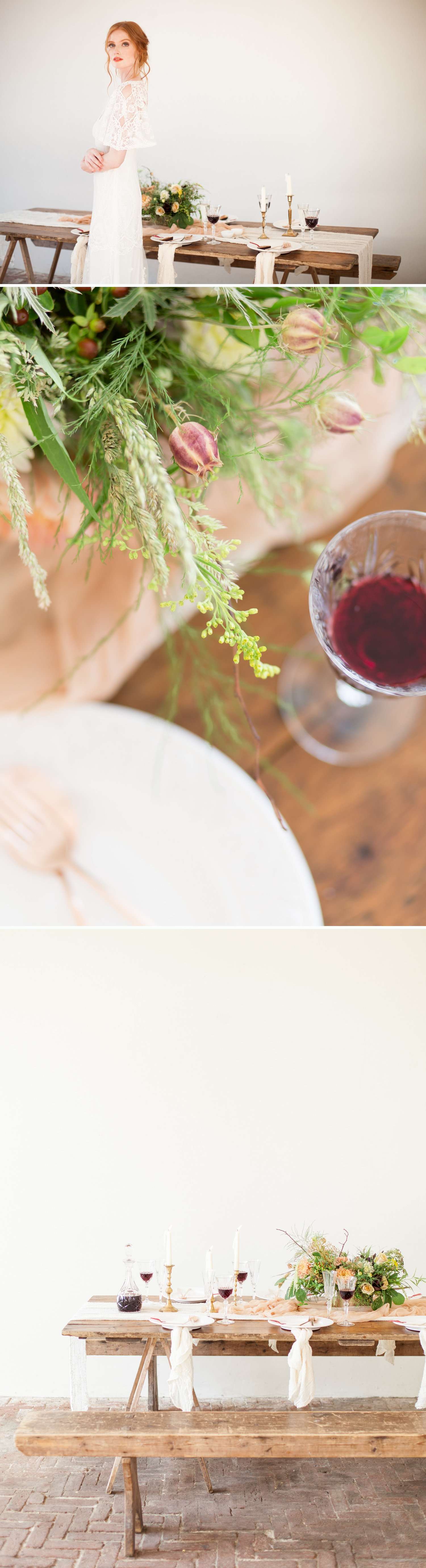 West Sussex Wedding Photographer - a Fine Art styled wedding tablescape