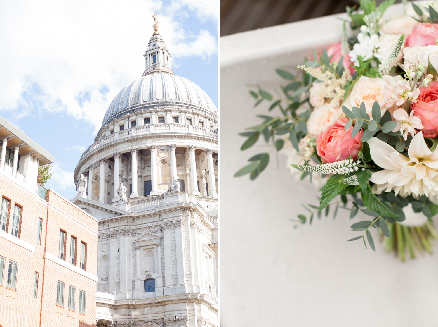 Charlotte & Adam's St. Paul's Cathedral wedding - the dome of St. Paul's