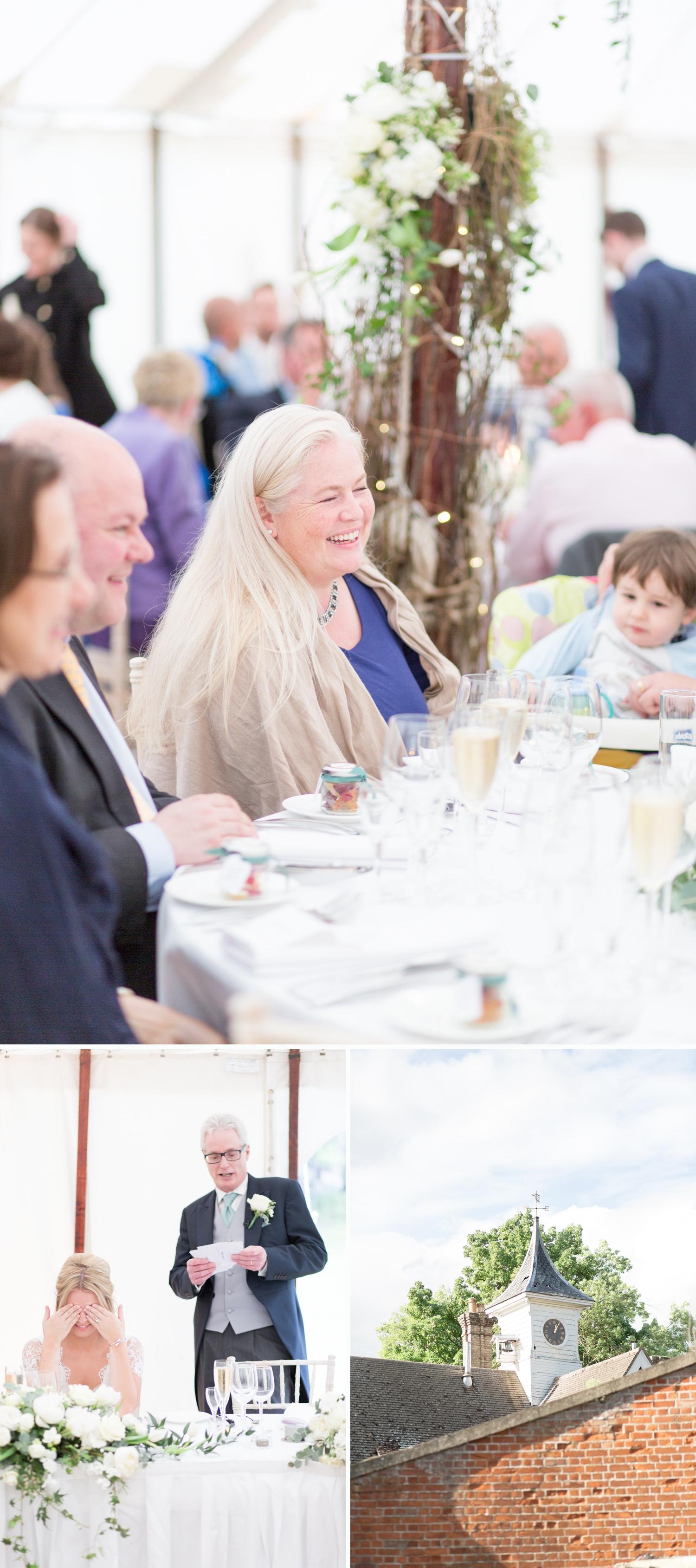 Emily & Jonathan's Cambridgeshire wedding - the wedding breakfast