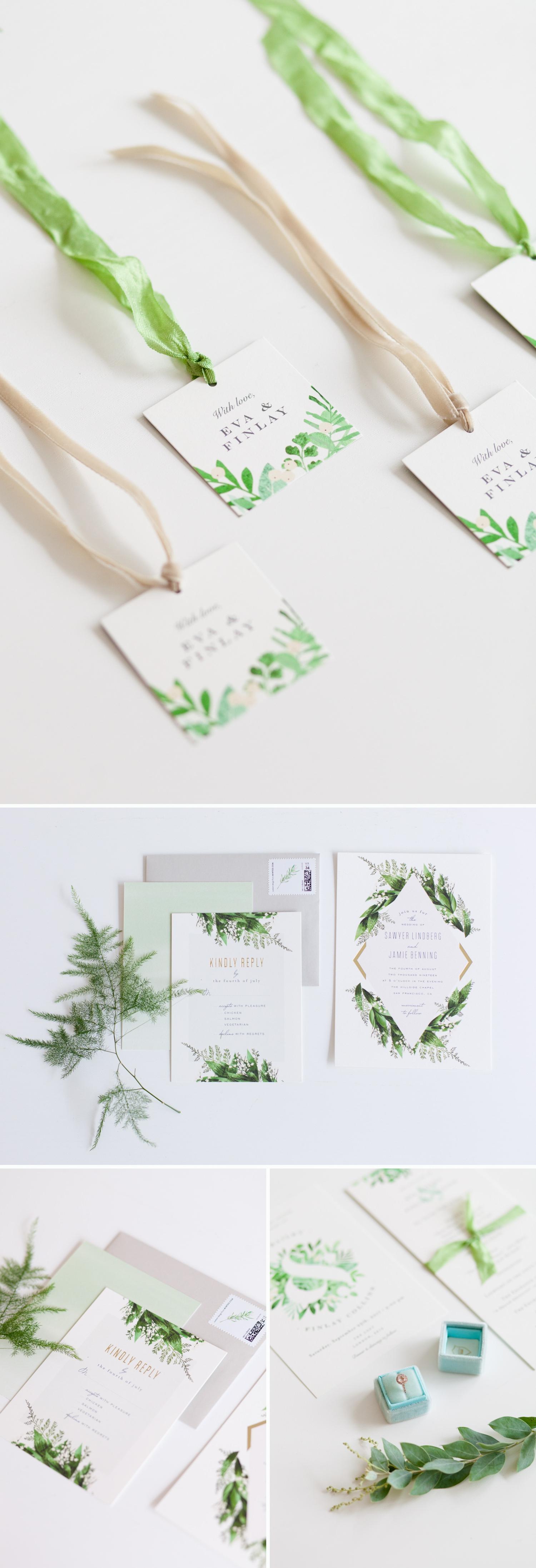 Industrial Chic Botanical Wedding 5 - botanical wedding stationery