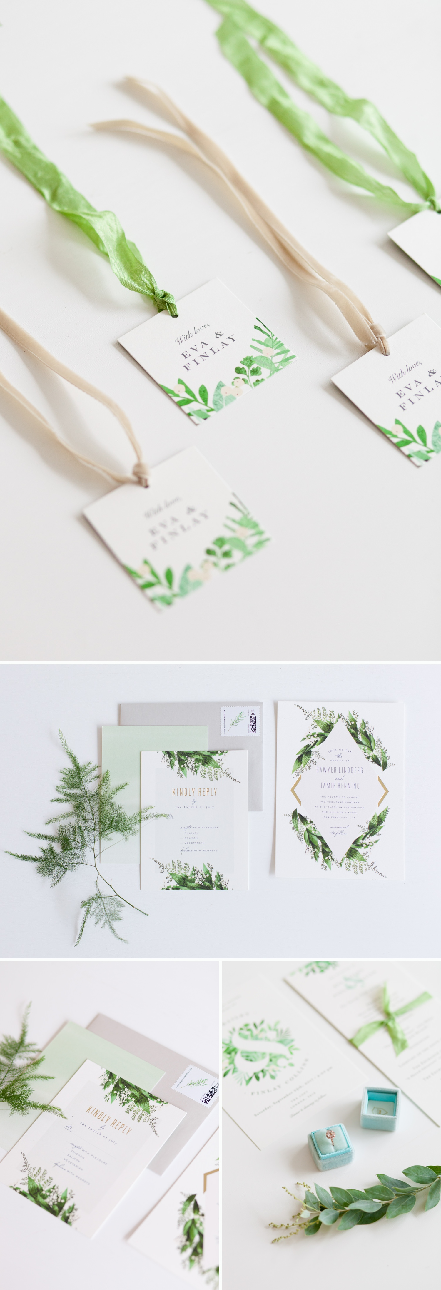 Industrial Chic Botanical Wedding 5 - botanical wedding stationery