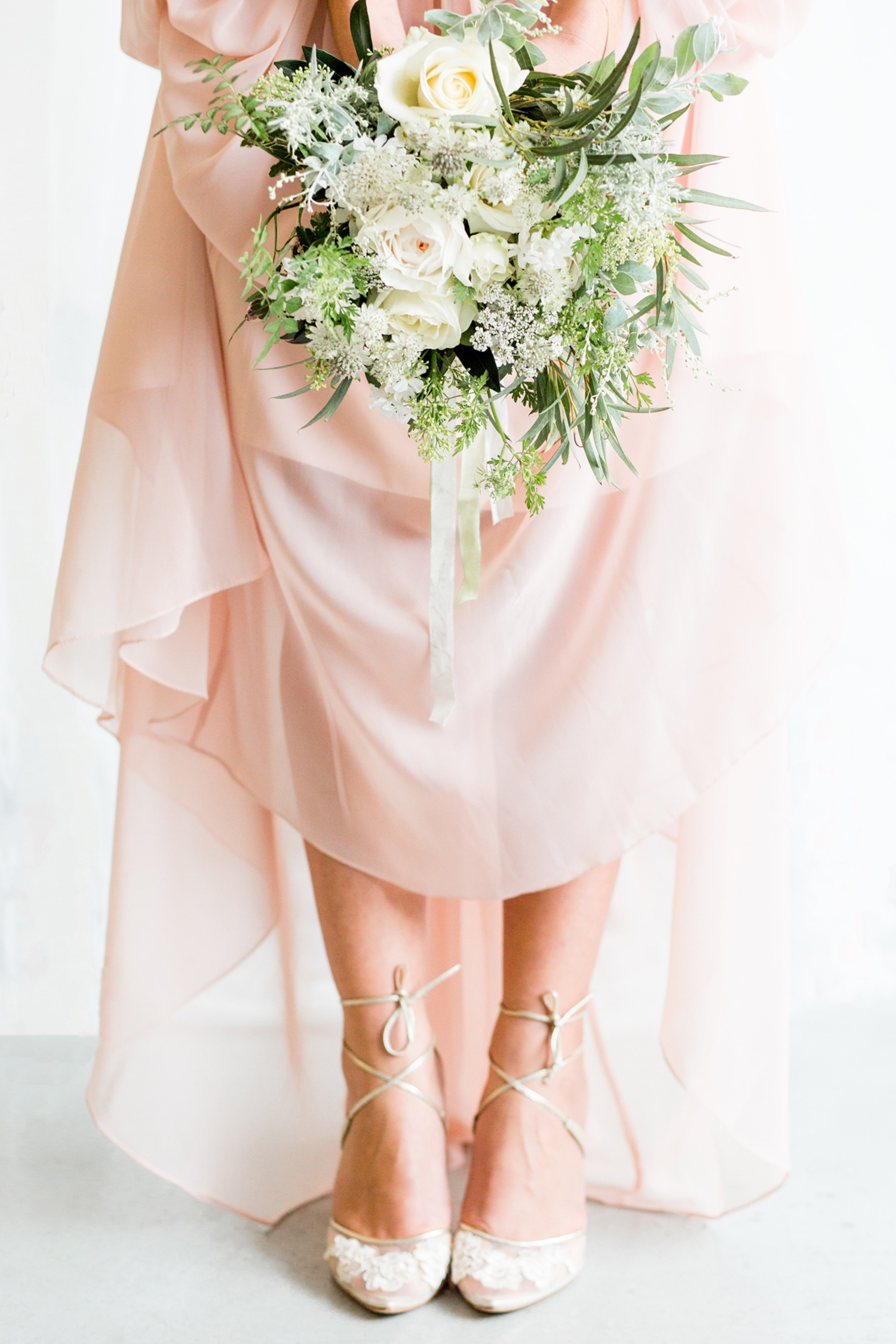 Industrial Chic Botanical Wedding 8 - beautiful strappy shoes from bella belle shoes