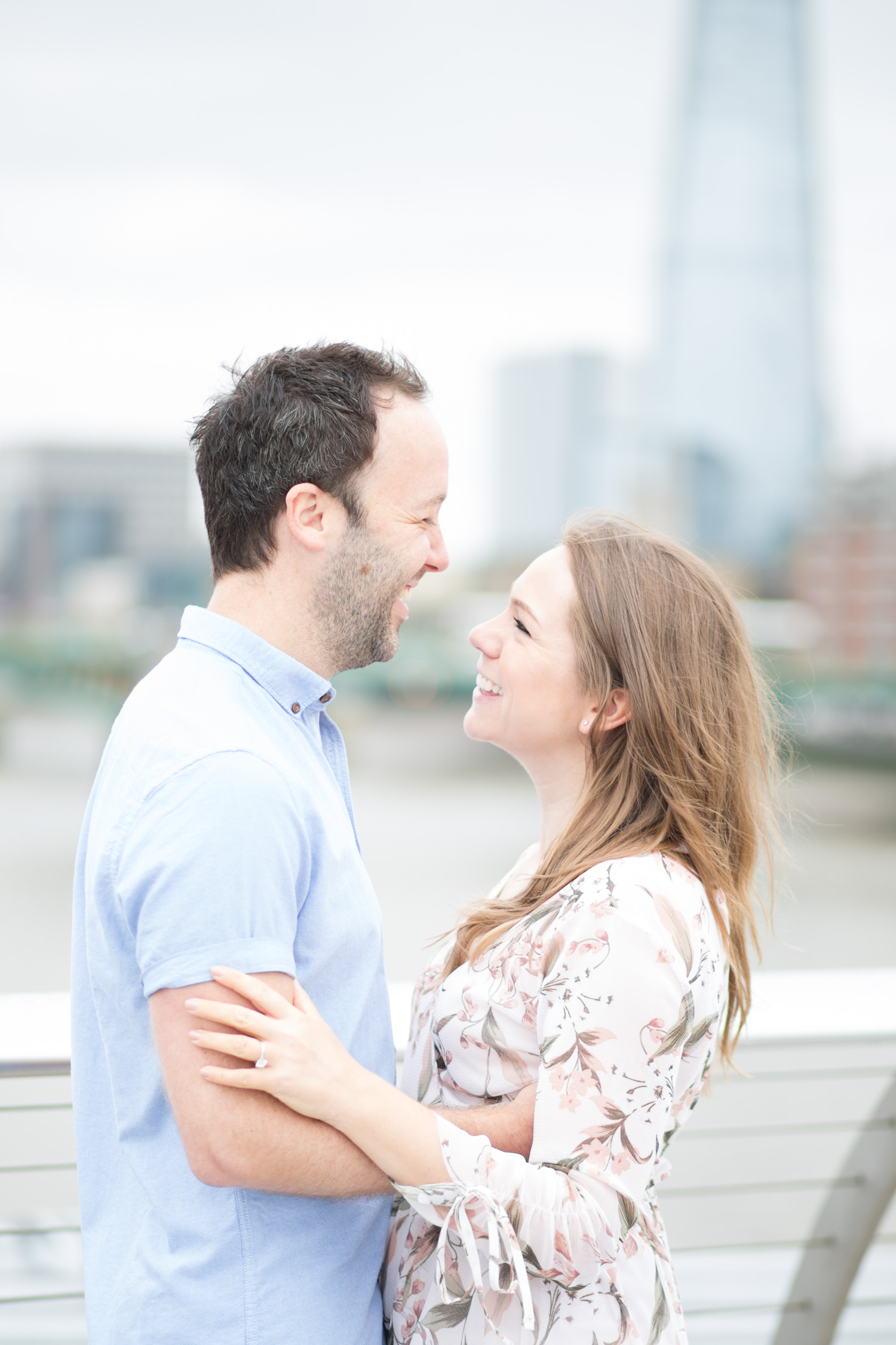 Comfortable In Front of the Camera on Your Wedding Day - a couple during a London engagement shoot