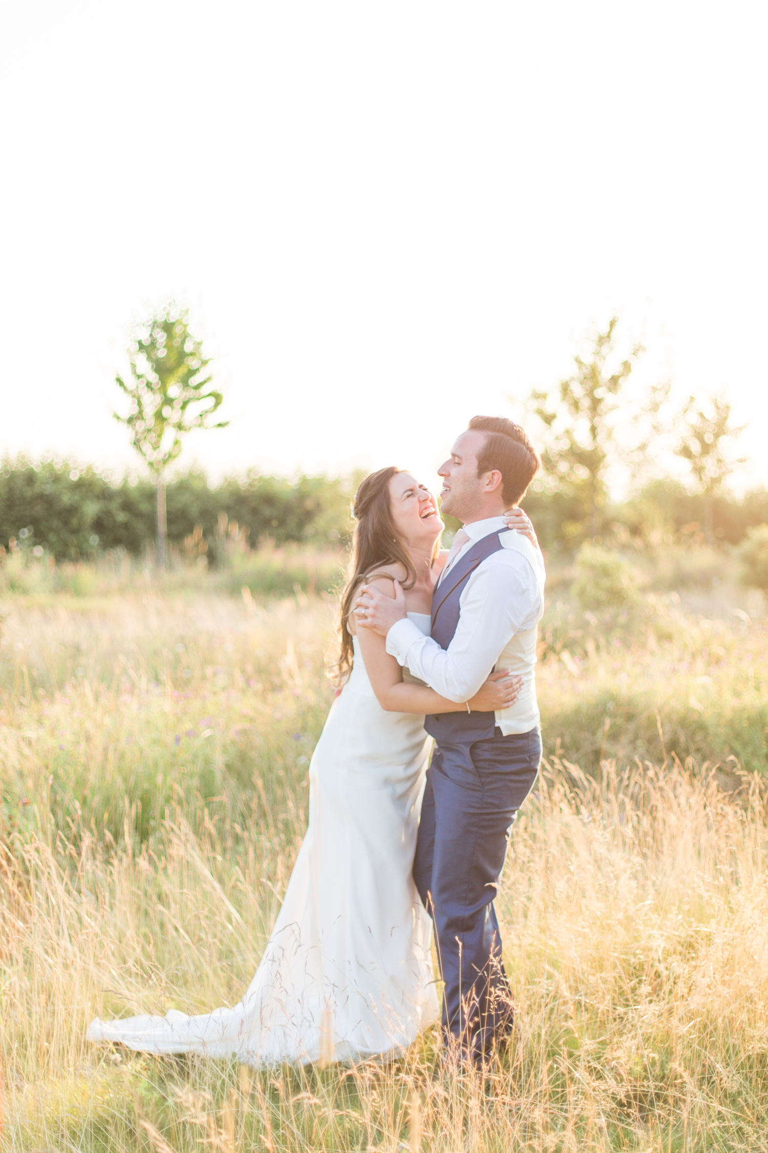 Comfortable In Front of the Camera on Your Wedding Day - a bride and groom portrait at South Farm