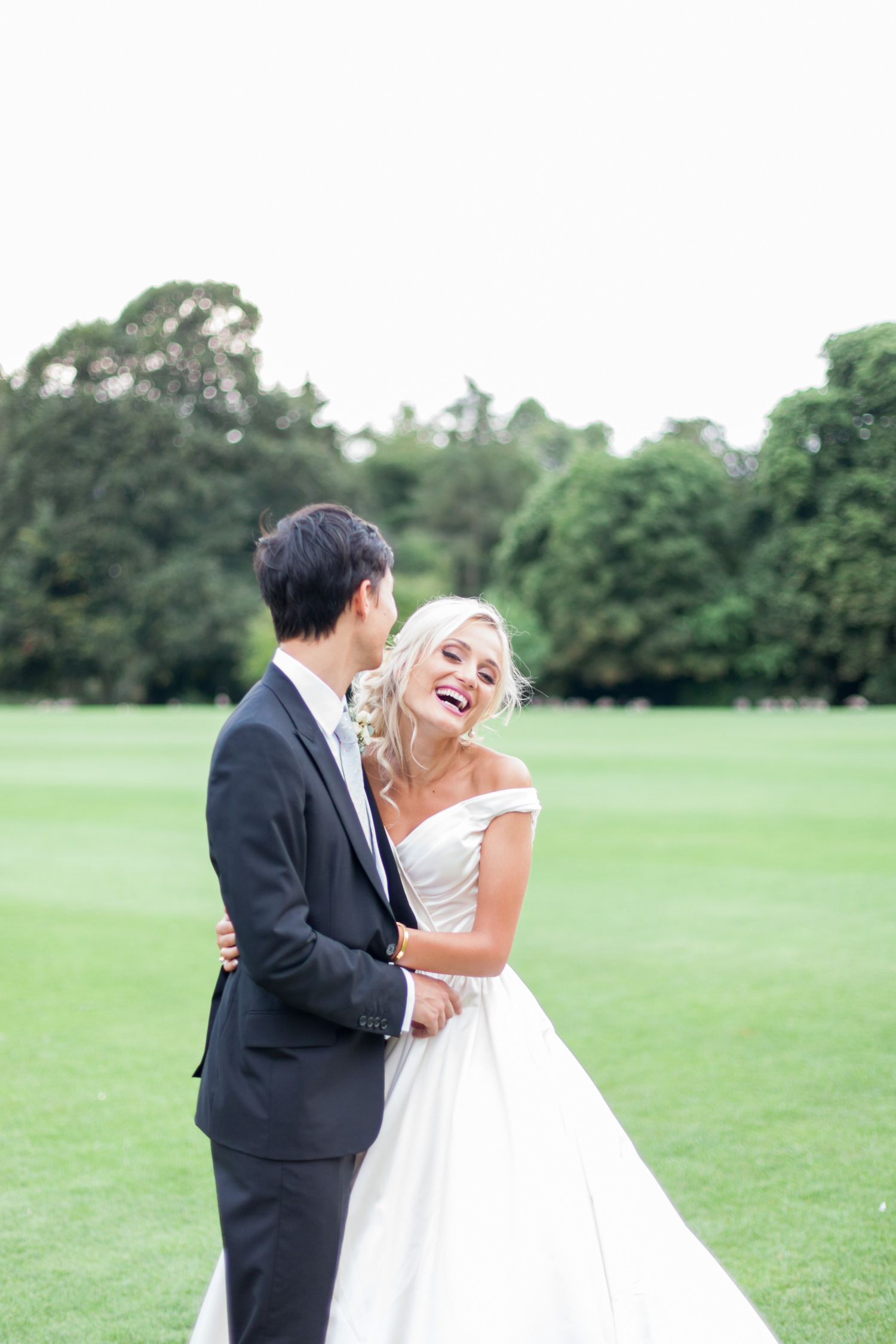 Comfortable In Front of the Camera on Your Wedding Day - a bride and groom portrait at Stowe House